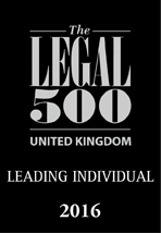 The Legal 500 UK Recommended Lawyer 2017